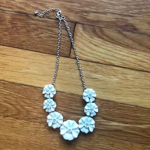 H&M blingy flower statement necklace, 17 inches